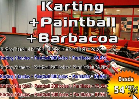 01 – Karting + Paintball + Parrillada 54,95€