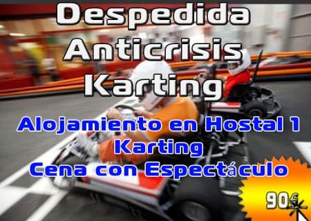 Despedida Anti Crisis Karting en Burgos, 90€