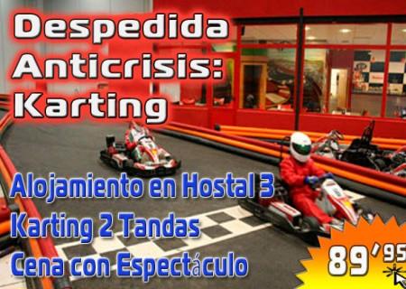 Despedida Anti Crisis Karting en Burgos – 89,95€