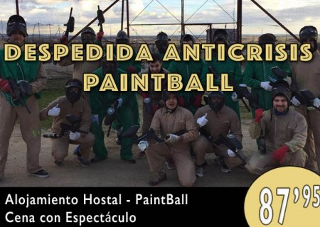Despedida Anticrisis Burgos Paintball – 87,95€
